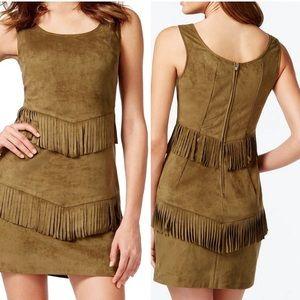 🆕 VAKKO for I.N.C. Suede Leather Fringe Dress